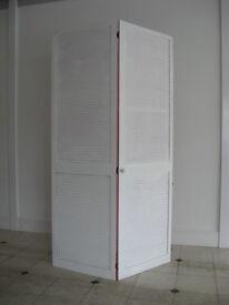 Pair of wooden louvre doors