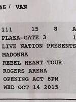 1 MADONNA ~ Rebel Heart Tour ~ Ticket FOR SALE