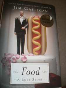"""Jim Gaffigan-Signed/autographed """"Food A Love Story"""" book"""