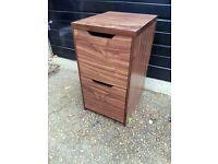 Seattle walnut effect 2 drawer filing cabinet