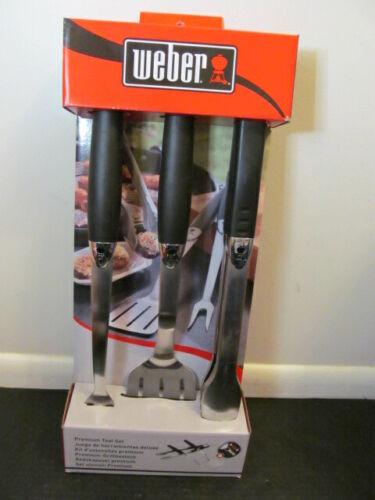 Weber Premium 3-Piece Grill Tool Set 6630
