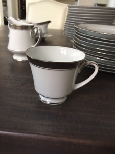 Noritake Crestwood Platinum China