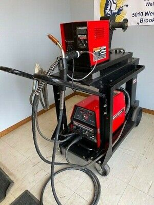 Lincoln Invertec V350-pro Welder W Ln-7 Wire Feeder Mig Stick Welding Package