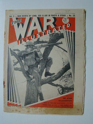 The War Illustrated Magazine Vol.2,#23 WWII Photograph Cover HMS Ajax 1940