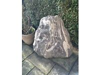 Water feature - Irish quartzite monolith stone