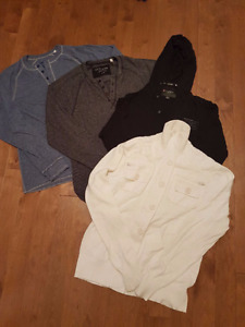 GUESS LONG SLEEVE SHIRTS, HOODIE & SWEATER SIZE LRG
