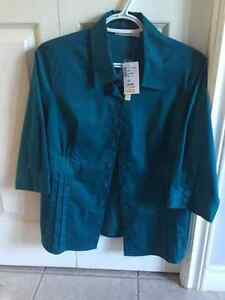 Ricki's Blouse Size 10 Gem Toned Green (with tags)