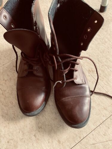 Paddock BOOTS Ladies sz 7 1/2 *Speed LACE* Brown VGC