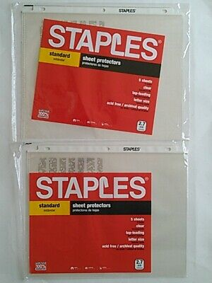 Staples Top-loading Letter Size Clear Sheet Protectors Total 10 Counts