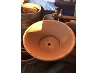 Lovely terracotta pots/planters for crocus, hyacinth or daffodils