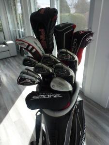 ensemble de golf Taylormade Burner 2.0, Ping G25 et Callaway