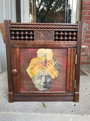 Autographed Harry Houdini Antique Stage Cabinet Magic New York Home Address