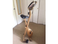 FREE Pro Fitness Folding Exercise Bike RE-Painted in Gold