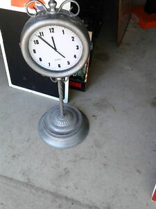 REDUCED TO $35.00 - Double sided Pedestal station clock London Ontario image 1