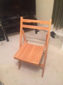 2 x wooden folding chairs