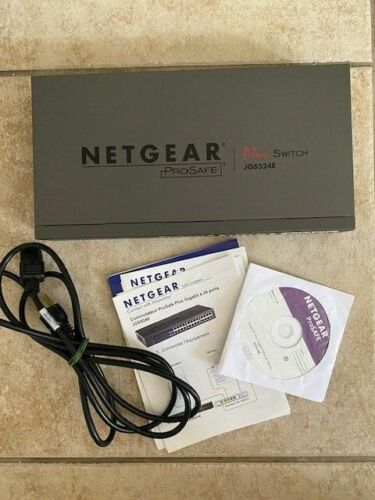 NetGear ProSafe Plus JGS524E 24-Ports Gigabit Ethernet Switch