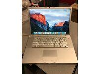 MacBook Pro Intel Core 2 Duo @2.5Ghz 4GB Ram 250Gb HDD OSX El Capitan ONLY £199 !!!