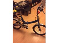 Folding Town Bicycle with accessories