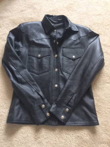 Women's Leather Motorcycle Jackets, shirt, and waist coat.