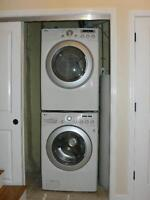 LG Stackable HE Front Load Washer and Dryer - 1 year old