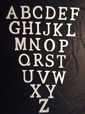 3D Holzbuchstaben Buchstabe Zahlen Zahl Buchstaben Holz weiß Namen *8 cm*    ()