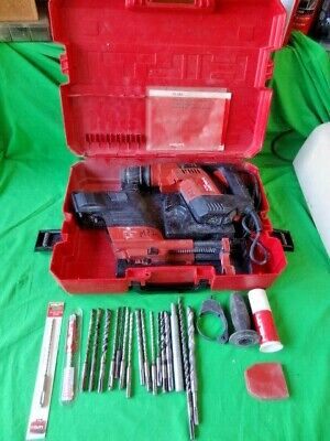 Hilti Te5 Rotary Hammer Drill Bits Case Dust Removal Tool Works - No Returns