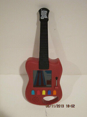 Hand held Guitar Hero Guitar red and black push button  collors green red yellow (Red And Black Guitar)