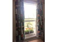 IKEA print curtains with 2 matching cushion covers