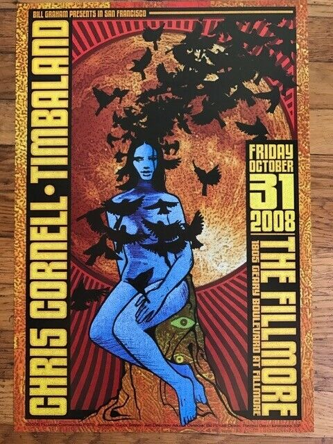"""CHRIS CORNELL FILLMORE CONCERT POSTER NF # 976 CHUCK SPERRY 13"""" x 19"""" NEAR MINT"""