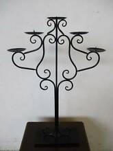 B46012 Black Metal 5 Arm Table Candleabra Candle Holder 2 AVAIL Mount Barker Mount Barker Area Preview