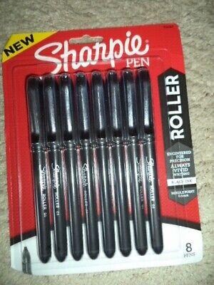 8 Sharpie Roller Pen Fine 0.5 Mm Black Ink Barrel Needle Point 2116307 Save 25