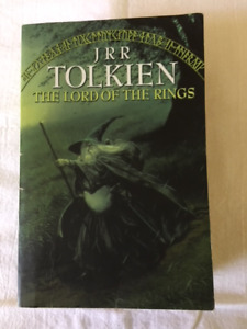 """""""The Lord of the Rings"""" softcover books for sale - $5 each."""