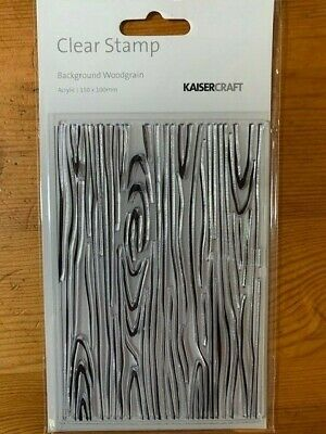 Kaisercraft Background Woodgrain Clear Stamp Set - 155mm x 105mm,  CS256