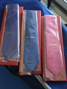 -- Brand new Authentic Salvatore Ferragamo Ties --