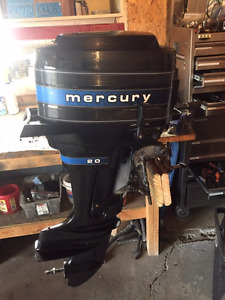 20 HP Mercury outboard