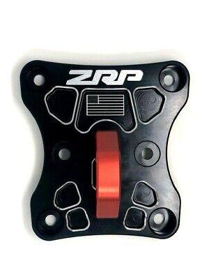 ZRP Billet Radius Rod Plate Black w/ Red D Ring Can-Am Maverick X3 -