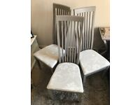 6 Oak Dining Chairs Annie Sloan paint, Laura Ashley Fabric
