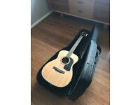 WASHBURN ACOUSTIC F10s folk guitar with case
