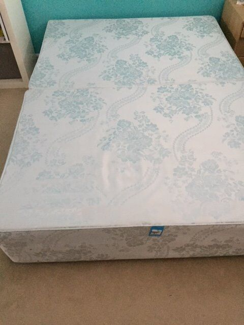 Small Double Divan Base, fully sprung