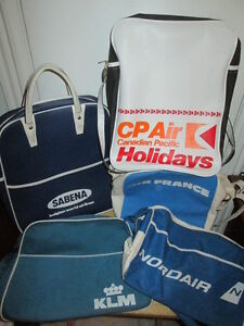 ***VINTAGE AIRLINE TRAVEL BAGS $25-$50 EA/ALL 5 FOR $150!!!***