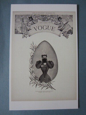MINT POSTCARD VOGUE COVER I. B. PRICE APRIL 18 1895