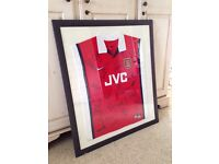 Signed Arsenal shirt Double-Winning framed