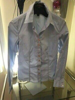 231b797bfaf3 LOUIS VUITTON Blue Cotton Button Down Shirt Blouse Size 2 - 4 US 36 France