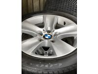Winter alloy wheels & runflat tyres Bmw vgc