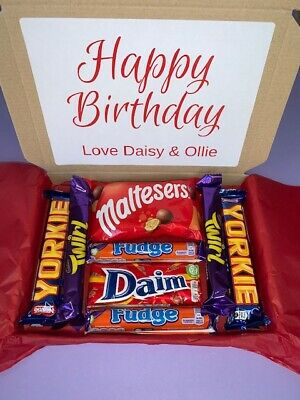 Cadbury Nestle Chocolate Selection Box Birthday Thank you Personalised Present