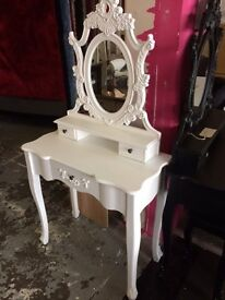 dressing table in white new inbox viewing welcome