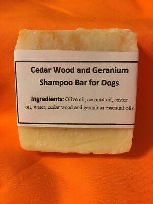 Handmade Dog Shampoo BarCedar Wood Geranium Repels Fleas Kills Odors Natural