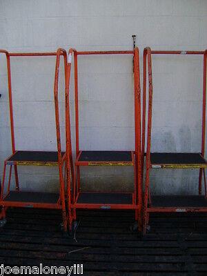 - STEEL ROLLING STAIR LADDER 2 STEP