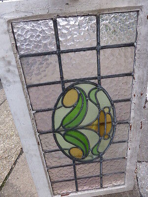 Antique Edwardian stained glass window frame (no 4)