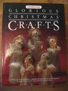GLORIOUS CHRISTMAS CRAFTS ... HARD COVERED ... LIKE NEW!
